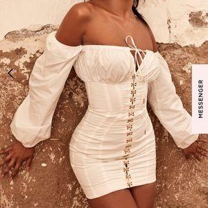 ' White Boned Corset Dress